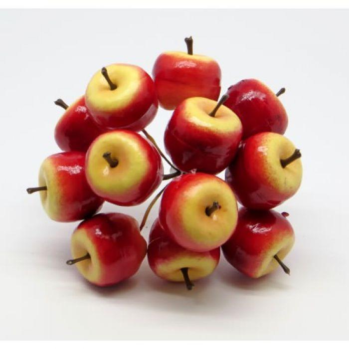 Букетик из жёлто-красных яблок для скрапбукинга
