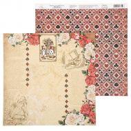 Бумага цветочная кайма, коллекция в стране чудес