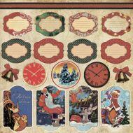 Бумага декор, коллекция новогодняя история