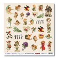 Бумага картинки, коллекция новогодний пейзаж