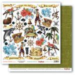 Бумага карточки 1, коллекция сокровище пиратов