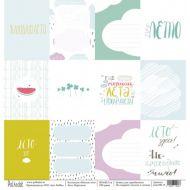 Бумага карточки, коллекция мятное лето