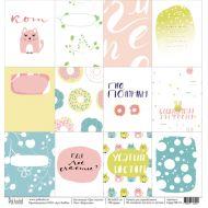 Бумага карточки, коллекция про счастье