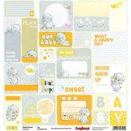 Бумага карточки, коллекция веселое детство англ.