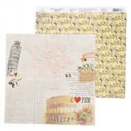 Бумага кусочек Италии, коллекция I love travels
