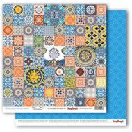 Бумага марокканская плитка, коллекция средиземноморье
