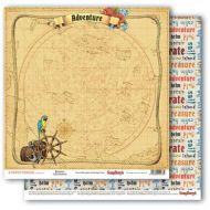 Бумага настоящее приключение, коллекция сокровище пиратов