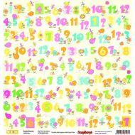 Бумага первые цифры, коллекция веселое детство