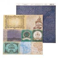 Бумага плашки, коллекция карта странствий
