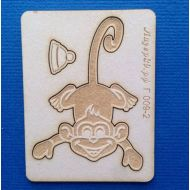 Чипборд обезьянка с гравировкой