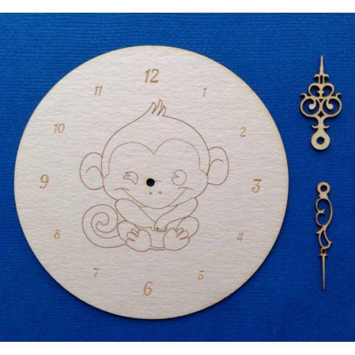 Циферблат с обезьяной для скрапбукинга