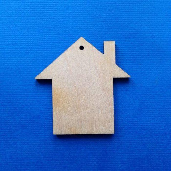 Декоративный элемент домик 50 мм для скрапбукинга