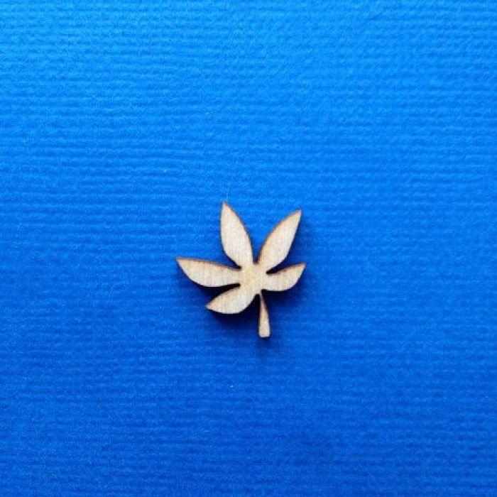 Декоративный элемент лист 15 мм для скрапбукинга