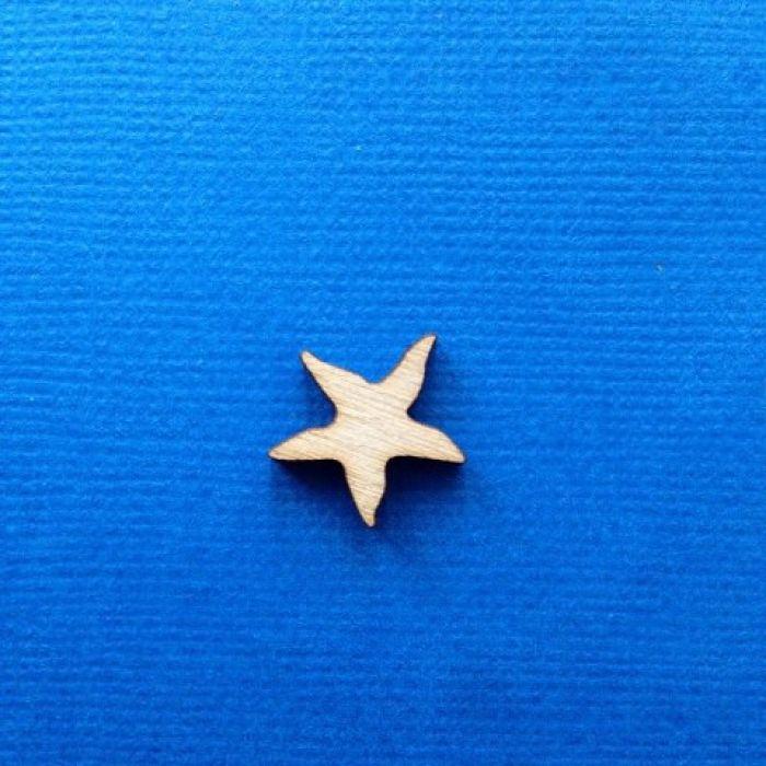 Декоративный элемент морская звезда 15 мм для скрапбукинга