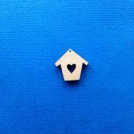 Декоративный элемент скворечник с сердечком