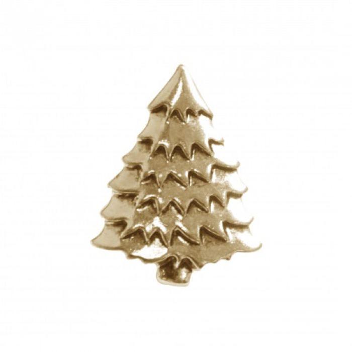 Пуговица ёлочка золотая 15 мм  для скрапбукинга