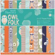 Набор бумаги Owl Folk, 15 х 15 см