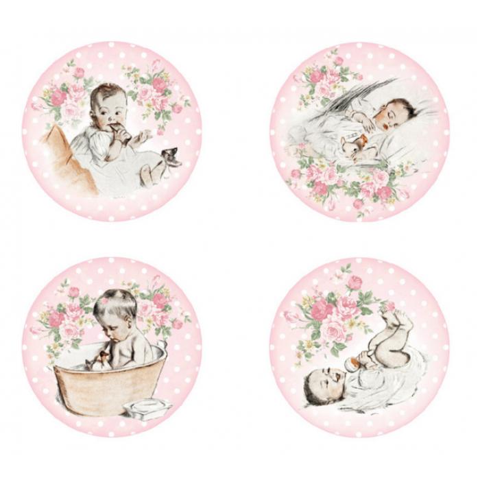 Набор фишек Baby girl для скрапбукинга