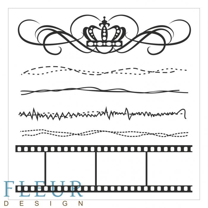 Набор штампов ретро фоновые для скрапбукинга