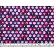 Отрез ткани фиолетовые снежки