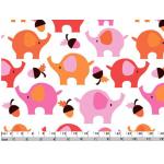Отрез ткани розовые слоники