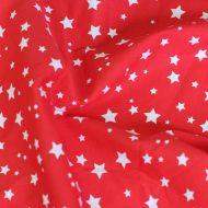 Отрез ткани звезды красные