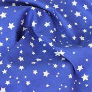 Отрез ткани звезды синие