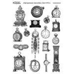 Прозрачные наклейки часы