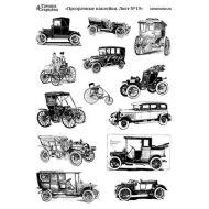 Прозрачные наклейки старинные машины