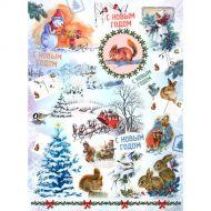 Рисовая бумага новогодняя открытка