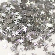 Серебряные фигурные блестки