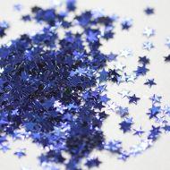 Синие  фигурные блестки