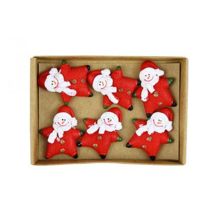 Снеговики в красном для скрапбукинга