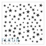 Трафарет звезды 15,5х15,5 см