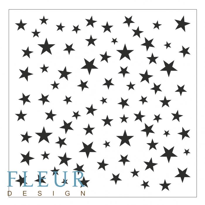 Трафарет звезды 15,5х15,5 см для скрапбукинга