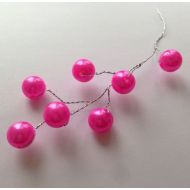 Веточка с жемчужинами розовыми