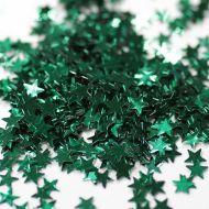 Зеленые  фигурные блестки