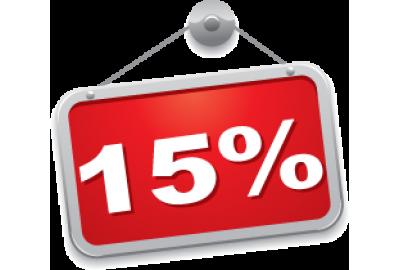 Скидка 15% на все товары в честь 8 марта!