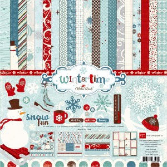 Набор бумаги Wintertime 30,5 х 30,5 см для скрапбукинга