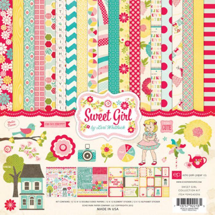 Набор бумаги Sweet Girl 30,5 х 30,5 см для скрапбукинга