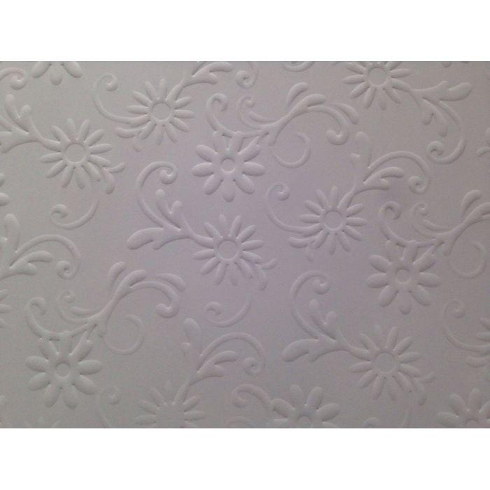 Белая бумага с тиснением цветы с завитками для скрапбукинга