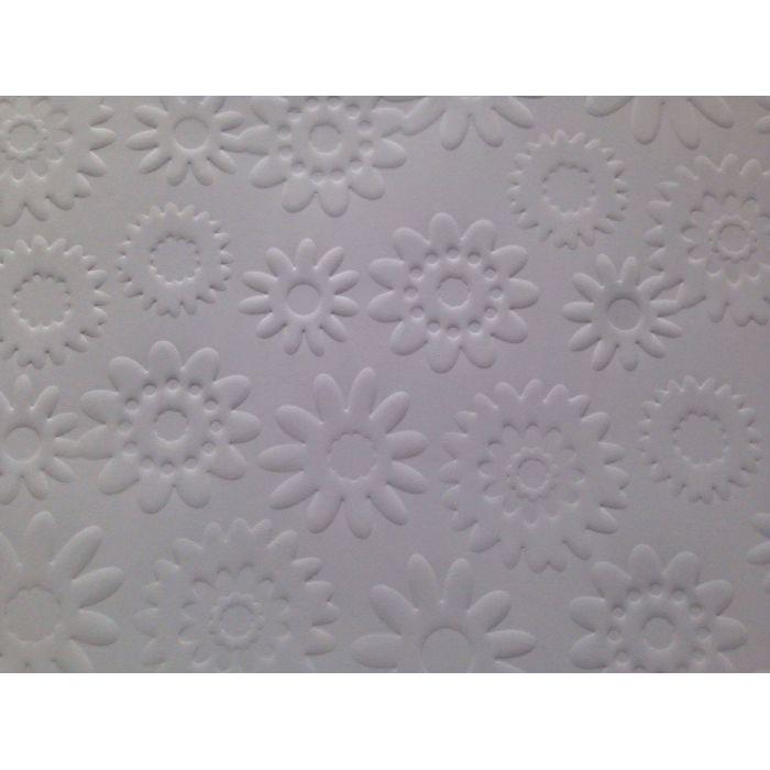 Белая бумага с тиснением цветы для скрапбукинга