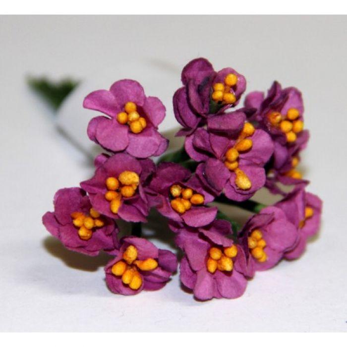 Букет из цветов фуксия для скрапбукинга