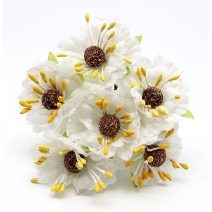 Букетик с белыми цветочками 2 для скрапбукинга