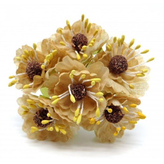 Букетик с бежевыми цветочками 2 для скрапбукинга