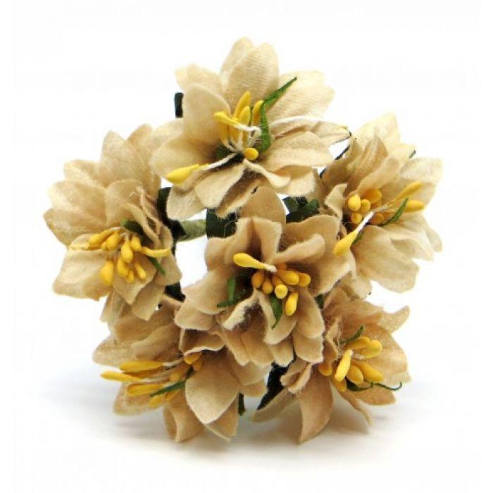 Букетик с бежевыми цветочками для скрапбукинга