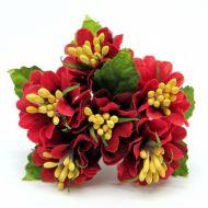 Букетик с красными цветочками