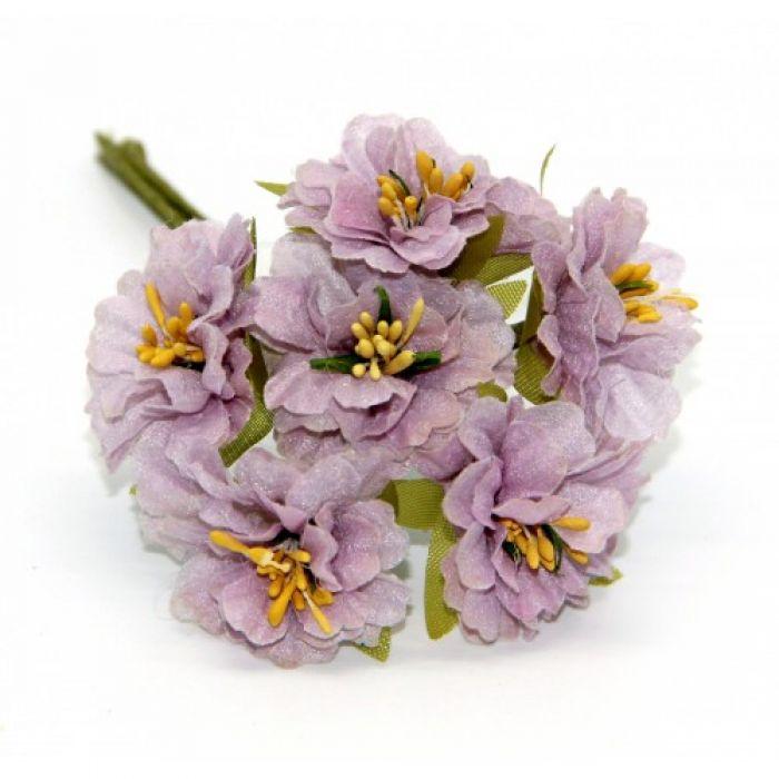 Букетик с сиреневыми цветами 2 для скрапбукинга