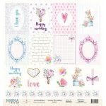 Бумага Cards1, коллекция Chic wedding