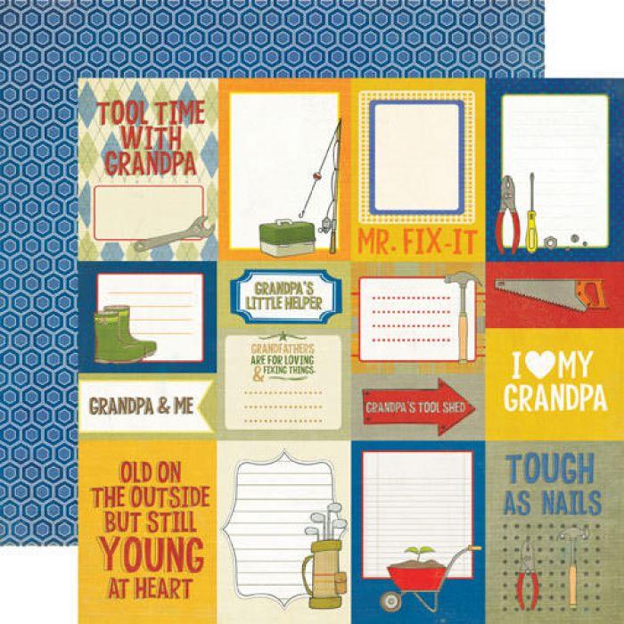 Бумага Journaling, коллекция Grandpa's Tool Shed для скрапбукинга